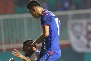 Olympic Thái Lan thoát hiểm nhờ bàn thắng ở phút 90+1