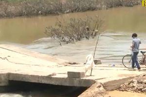 Bắc Giang: Ngầm tràn Đồng Dầu xuống cấp nghiêm trọng gây nguy hiểm cho người dân đi qua