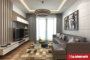 Tư vấn thiết kế nội thất căn hộ 70m2 với tổng chi phí chưa đến 61 triệu