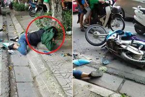 Người bị tai nạn nằm gục ở lề đường, dân vây quanh không ai dám đỡ dậy