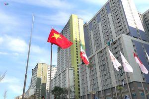 Lễ Thượng cờ trang nghiêm của Đoàn Thể thao Việt Nam tại ASIAD 2018