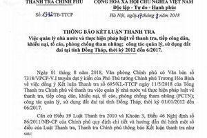 Thanh tra Chính phủ: Đồng Tháp sai phạm hơn 264 tỷ đồng