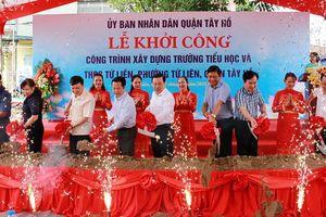 Học sinh Tứ Liên (Tây Hồ, Hà Nội) sẽ không còn phải học nhờ trong đình làng