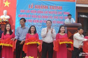 Khánh thành Khu lưu niệm đồng chí Nguyễn Duy Trinh