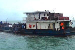 Tạm giữ phương tiện khai thác cát trái phép trên vùng biển Cần Giờ
