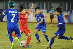 Tuyển nữ Việt Nam thắng Thái Lan, lộ rõ cửa vào bán kết Asian Games 2018