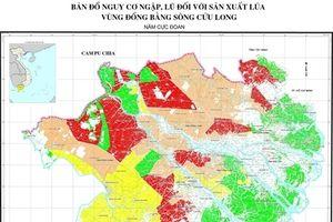 Bản đồ nguy cơ thiên tai phục vụ sản xuất lúa