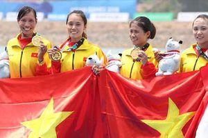 Đội rowing giải cơn khát vàng cho Đoàn Việt Nam tại ASIAD 18