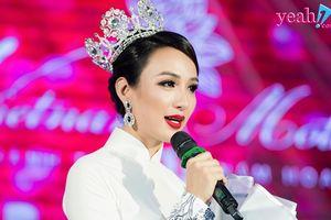 Hoa hậu Ngọc Diễm bật khóc trong đêm kỷ niệm 10 năm đăng quang
