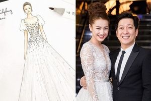 Rò rỉ thiết kế váy cưới của Nhã Phương