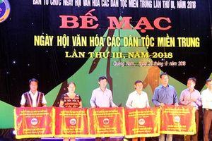 Bế mạc Ngày hội văn hóa các dân tộc miền Trung lần thứ III