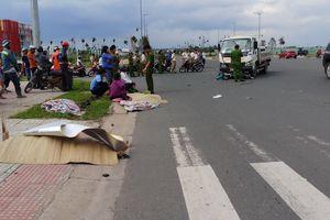 Xe tải va chạm xe máy trong khu công nghệ cao, 2 người tử vong
