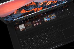 Macbook Pro xuất hiện cực đẹp trong concept với Touch Bar lớn