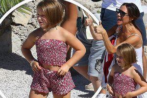 'Công chúa' 7 tuổi nhà Beckham bụ bẫm, tóc ngắn cực dễ thương