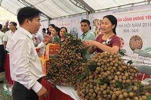 Rộn ràng phiên chợ nhãn lồng Hưng Yên tại Hà Nội