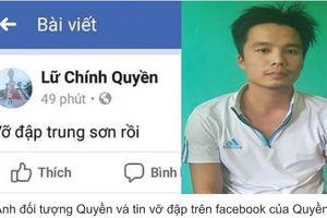 Thanh Hóa: 2 thanh niên tung tin đồn thất thiệt 'câu like' bị công an triệu tập