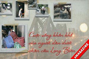 Khốn khổ sống trong rác dưới chân cầu Long Biên