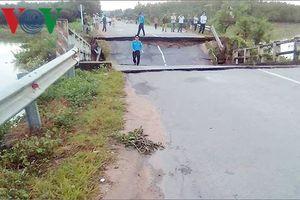 Bình Thuận tìm phương án khắc phục cầu Tân Hà bị sập