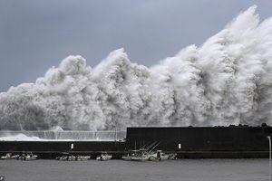Tận thấy cơn bão lớn nhất 25 năm qua 'càn quét' Nhật Bản