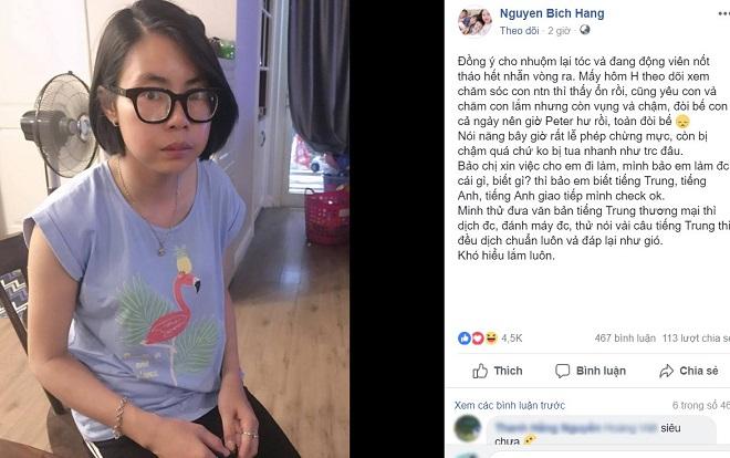 Khoe ảnh Bella nhuộm lại tóc đen, Hằng túi còn tiết lộ 'hot girl quỵt tiền' biết tiếng Anh và tiếng Trung, muốn tìm việc để nuôi con