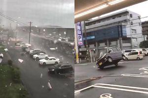 Bão Jebi cuốn bay nhà cửa, ô tô ở Nhật Bản