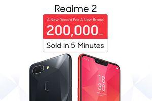Oppo bán được 200.000 chiếc Realme 2 chỉ trong 5 phút