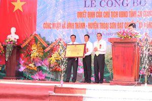 Bình Thành đón nhận danh hiệu xã NTM