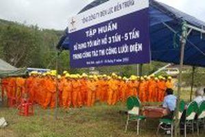 Ngành điện lực miền trung diễn tập phòng chống thiên tai và cứu nạn