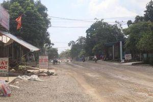Khó khăn về mặt bằng, dự án Quốc lộ 12B qua Ninh Bình thi công 'cầm chừng'