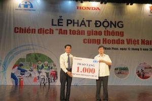 Honda Việt Nam tổ chức chuỗi an toàn giao thông tại Vĩnh Phúc
