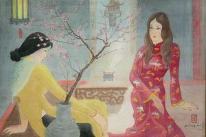 Ngẩn ngơ với tranh thiếu nữ của họa sỹ Lê Năng Hiển