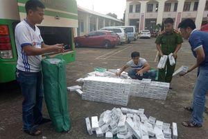 Bắt vụ vận chuyển trên 3.500 gói thuốc lá lậu