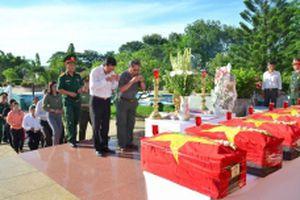Bình Thuận tổ chức truy điệu và an táng chín hài cốt liệt sĩ