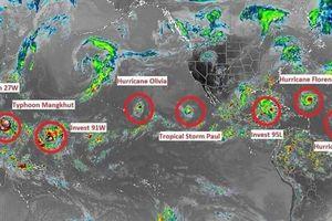 9 cơn bão xuất hiện cùng lúc, chuyên gia cảnh báo điểm 'bất thường'