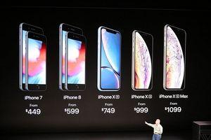 Bảng giá bộ 3 iPhone Xs, Xs Max và Xr vừa trình làng: Mẫu 'sang chảnh' nhất 1.449 USD