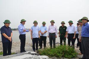 Kiểm tra công tác phòng, chống bão số 5 và siêu bão Mangkhut tại huyện Thái Thụy và Tiền Hải