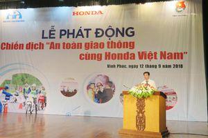 Bùng nổ hoạt động trong 'Chiến dịch An toàn giao thông cùng Honda Việt Nam'