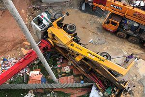 Lật xe bơm bê tông trong công trình nhà ở xã hội