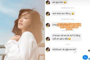 Hoàng Yến Chibi đáp trả lời đề nghị 'gặp gỡ' giá 10.000 USD