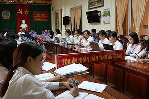 TAND tỉnh An Giang tổ chức phiên tòa rút kinh nghiệm theo yêu cầu cải cách tư pháp