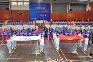 Báo Giao thông tham dự Giải bóng bàn Hội nhà báo Việt Nam 2018
