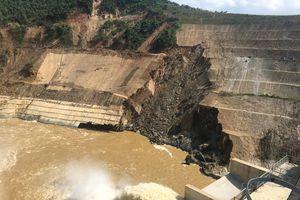 Thanh Hóa: Sạt trượt mái đào hạ lưu đập thủy điện Trung Sơn