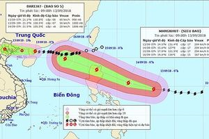 Siêu bão Mangkhut mạnh cấp 17 đang tiến vào biển Đông