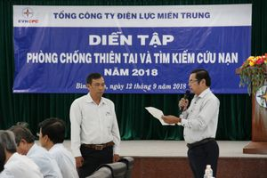 EVN CPC diễn tập phòng chống thiên tai quy mô lớn tại Bình Định