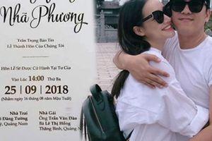 Cận cảnh thiệp cưới của Trường Giang, Nhã Phương