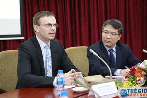 Ngoại trưởng Estonia nói chuyện tại Học viện Ngoại giao