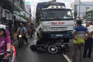 Công an kết luận ban đầu về vụ tai nạn xe tải lùa hàng loạt xe máy