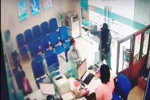 Cận cảnh diễn biến vụ cướp ngân hàng ở Tiền Giang