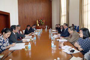 Bộ trưởng Đinh Tiến Dũng làm việc với Chủ tịch JICA