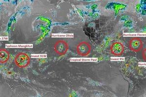 Hiện tượng kỳ lạ: 7 cơn bão cùng lúc hoành hành trên toàn cầu